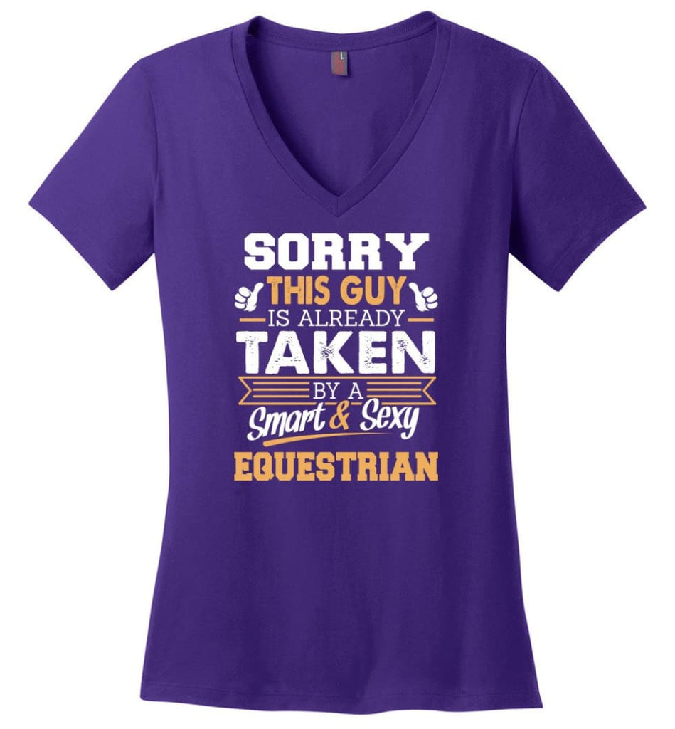 Electronic Engineer Shirt Cool Gift for Boyfriend Husband or Lover Ladies V-Neck - Purple / M - 11