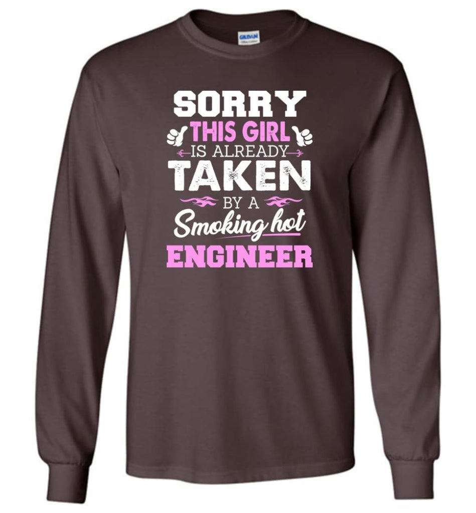 Engineer Shirt Cool Gift for Girlfriend Wife or Lover - Long Sleeve T-Shirt - Dark Chocolate / M