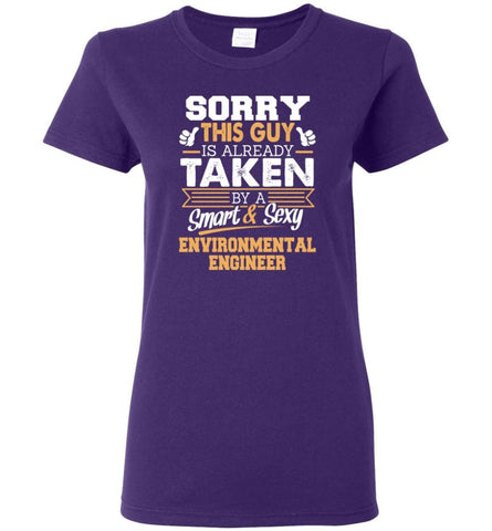 Environmental Engineer Shirt Cool Gift for Boyfriend Husband or Lover Women Tee - Purple / M - 14