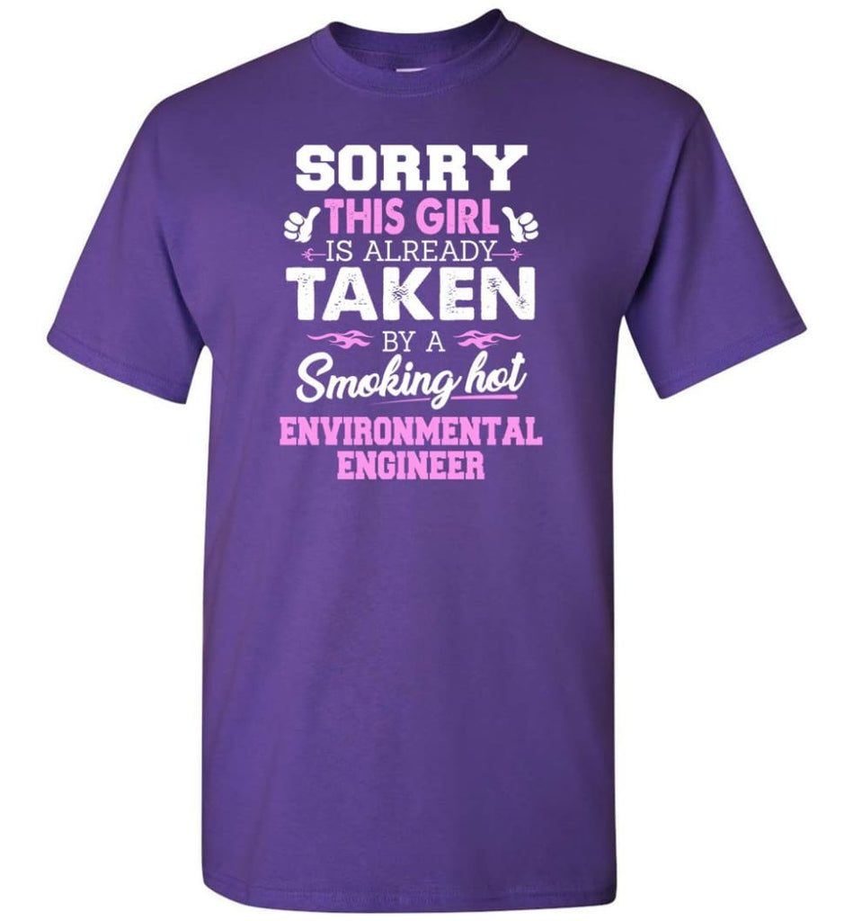 Environmental Engineer Shirt Cool Gift for Girlfriend Wife or Lover - Short Sleeve T-Shirt - Purple / S
