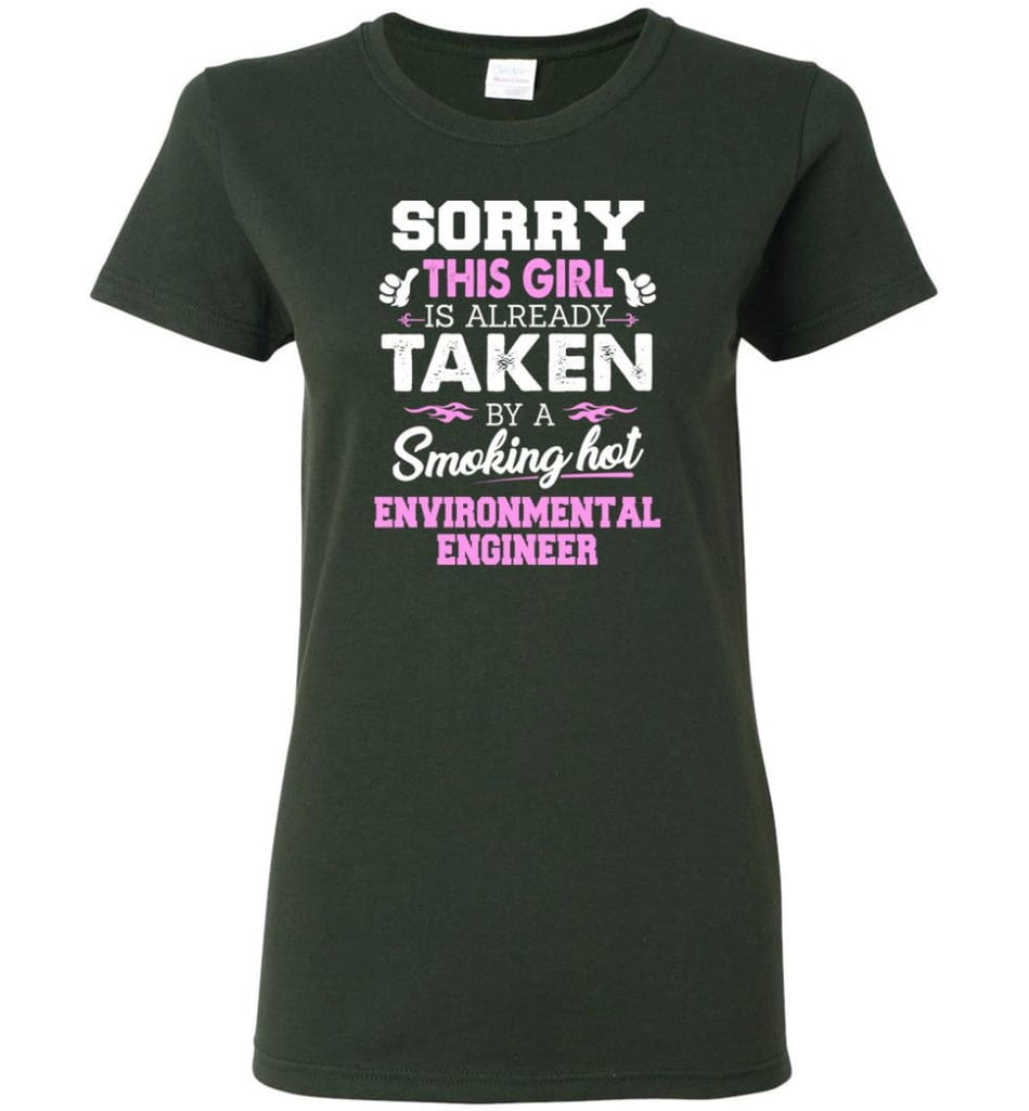 Environmental Engineer Shirt Cool Gift for Girlfriend Wife or Lover Women Tee - Forest Green / M - 14