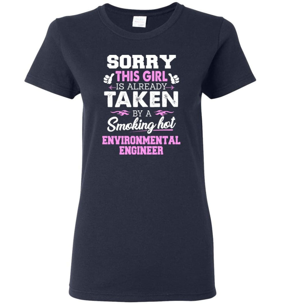 Environmental Engineer Shirt Cool Gift for Girlfriend Wife or Lover Women Tee - Navy / M - 14