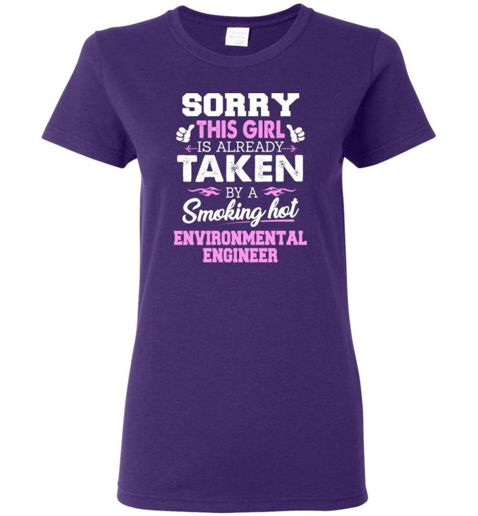 Environmental Engineer Shirt Cool Gift for Girlfriend Wife or Lover Women Tee - Purple / M - 14