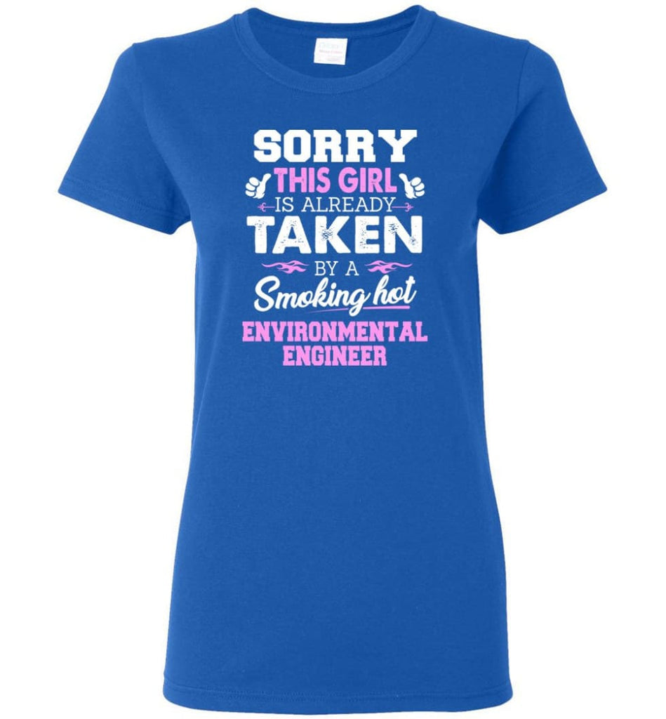 Environmental Engineer Shirt Cool Gift for Girlfriend Wife or Lover Women Tee - Royal / M - 14