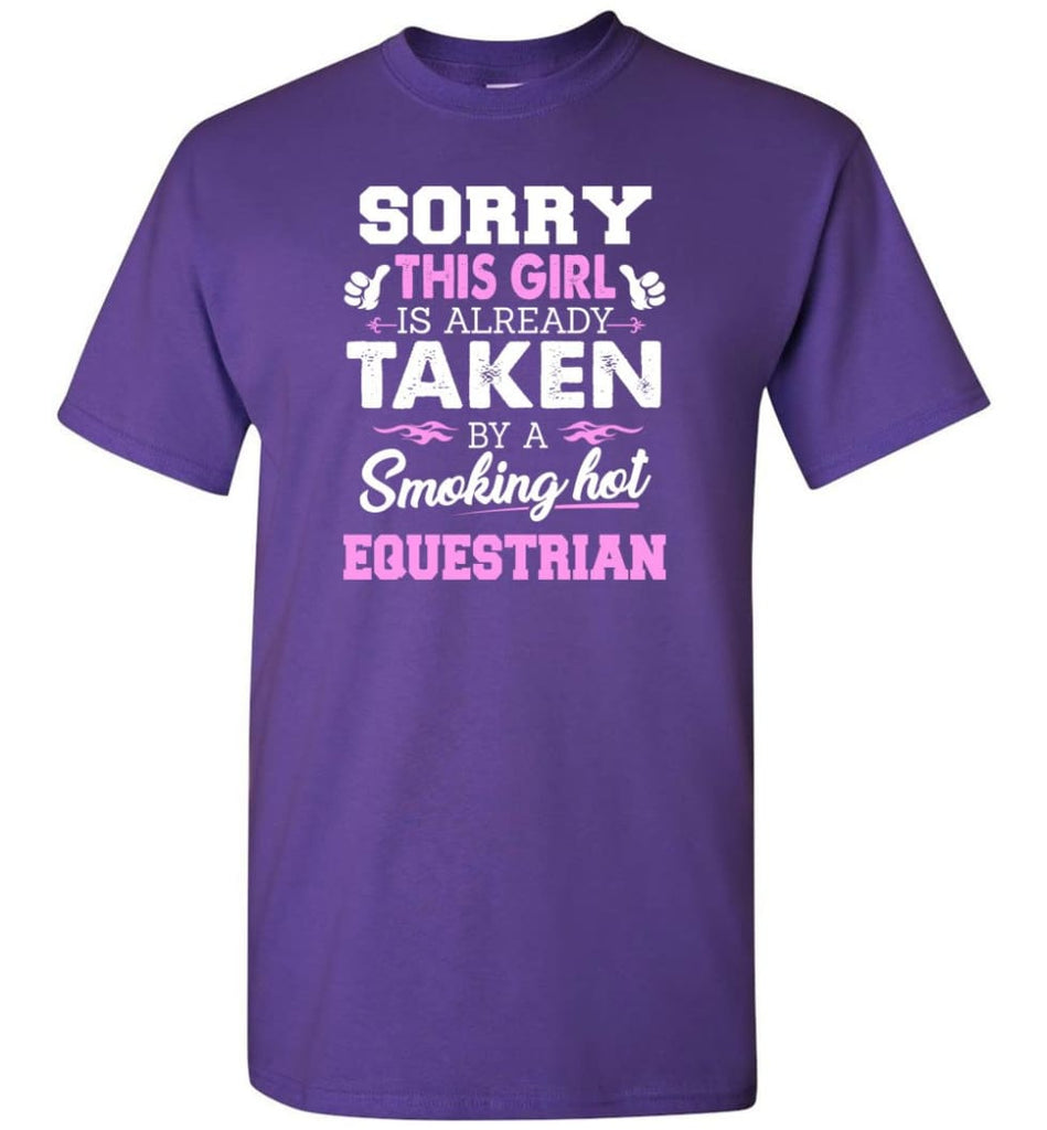 Equestrian Shirt Cool Gift for Girlfriend Wife or Lover - Short Sleeve T-Shirt - Purple / S