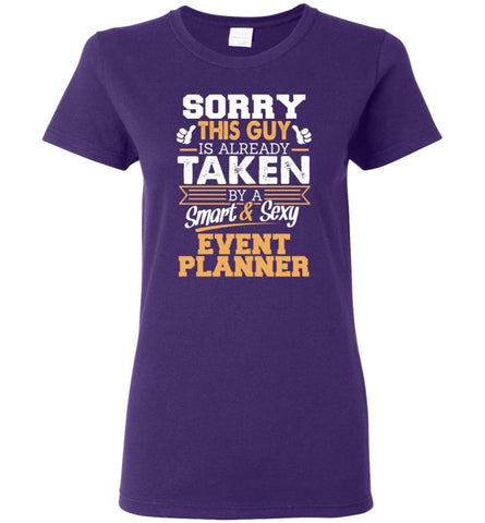 Event Planner Shirt Cool Gift for Boyfriend Husband or Lover Women Tee - Purple / M - 6
