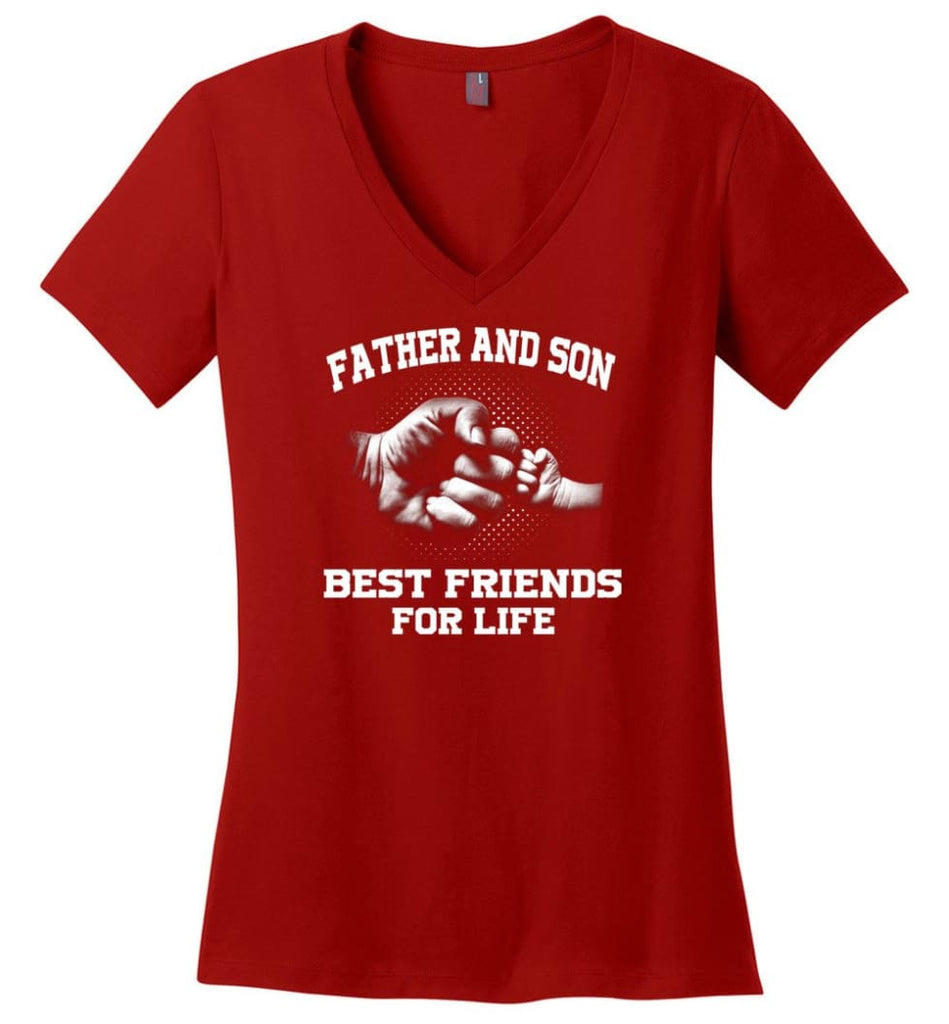 Father shirt The Coolest Father In The Galaxy Ladies V-Neck - Red / M