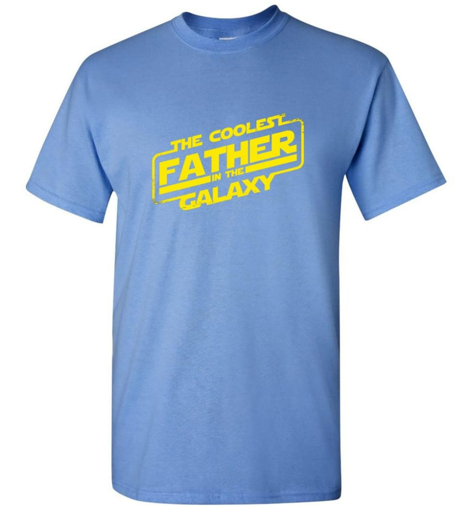 Father shirt The Coolest Father In The Galaxy - Short Sleeve T-Shirt - Carolina Blue / S