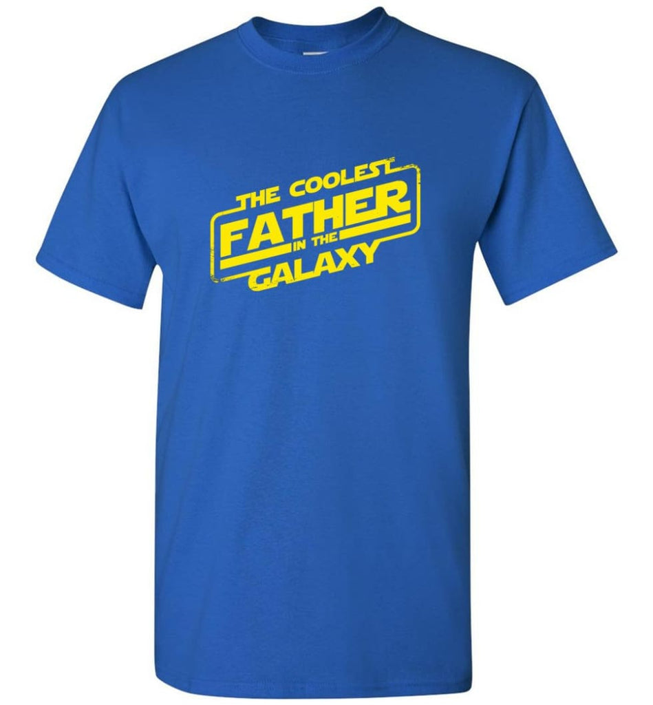 Father shirt The Coolest Father In The Galaxy - Short Sleeve T-Shirt - Royal / S