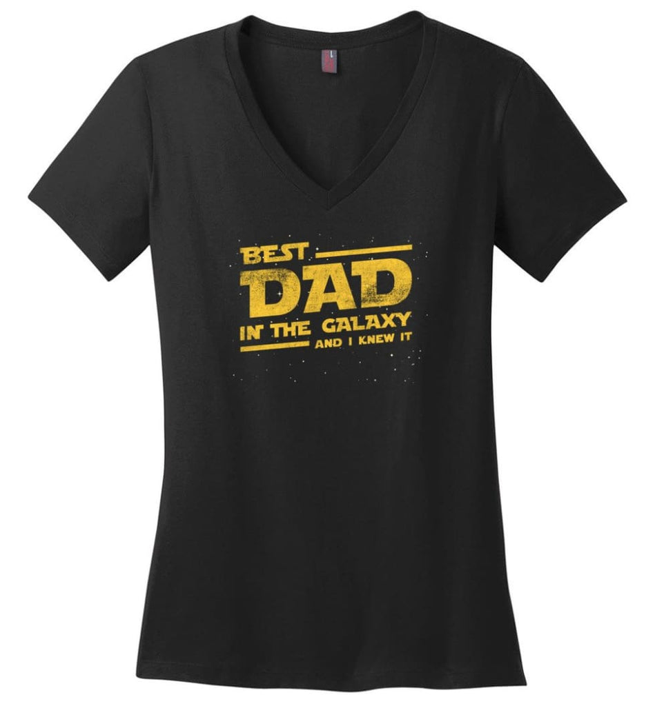 Father's Day Shirt Father And Son Best Friend For Life Ladies V-Neck - Black / M