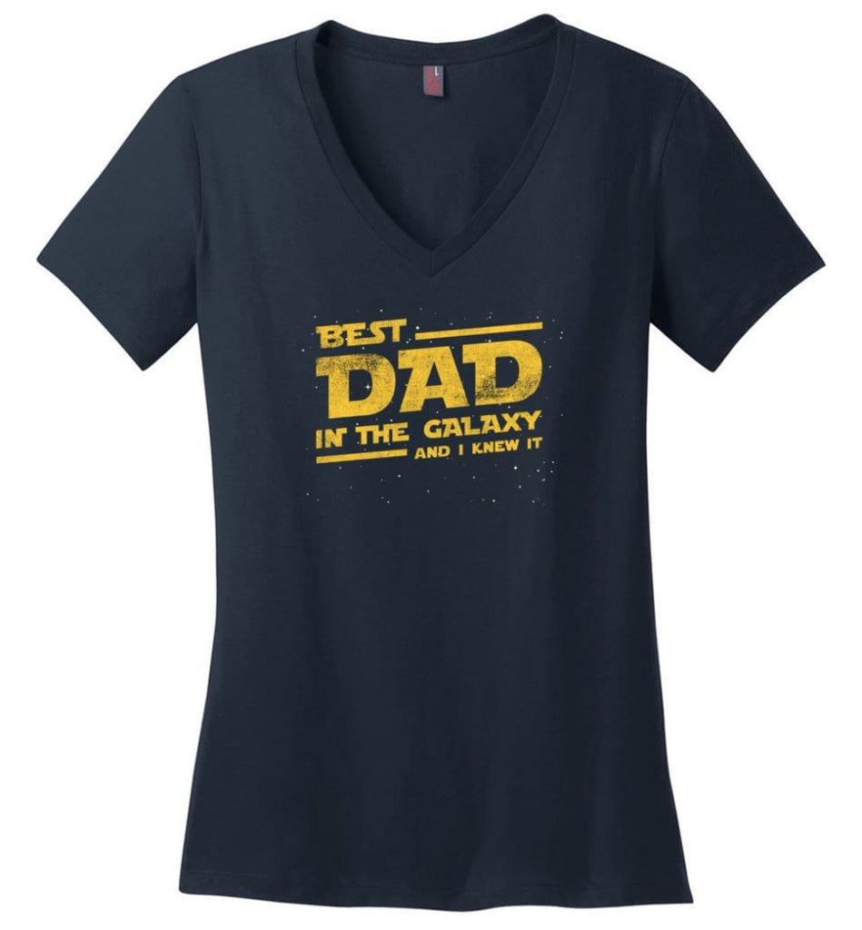Father's Day Shirt Father And Son Best Friend For Life Ladies V-Neck - Navy / M
