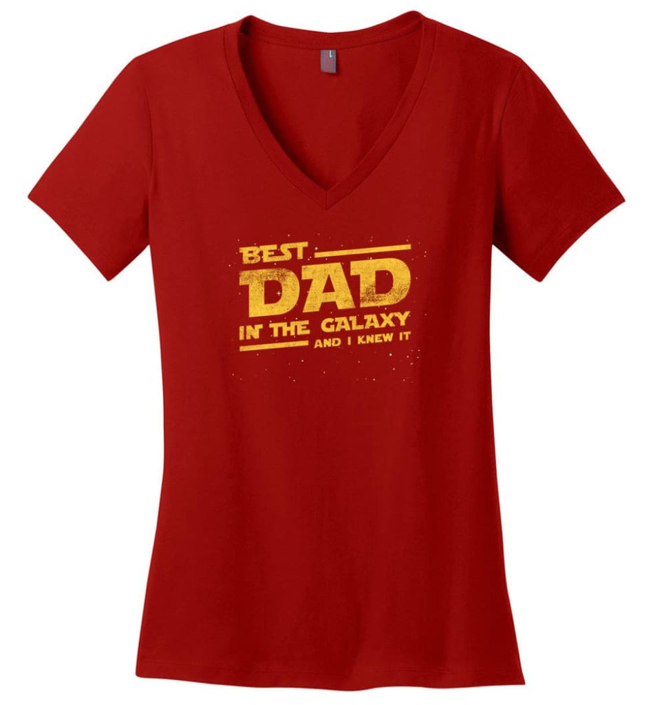 Father's Day Shirt Father And Son Best Friend For Life Ladies V-Neck - Red / M