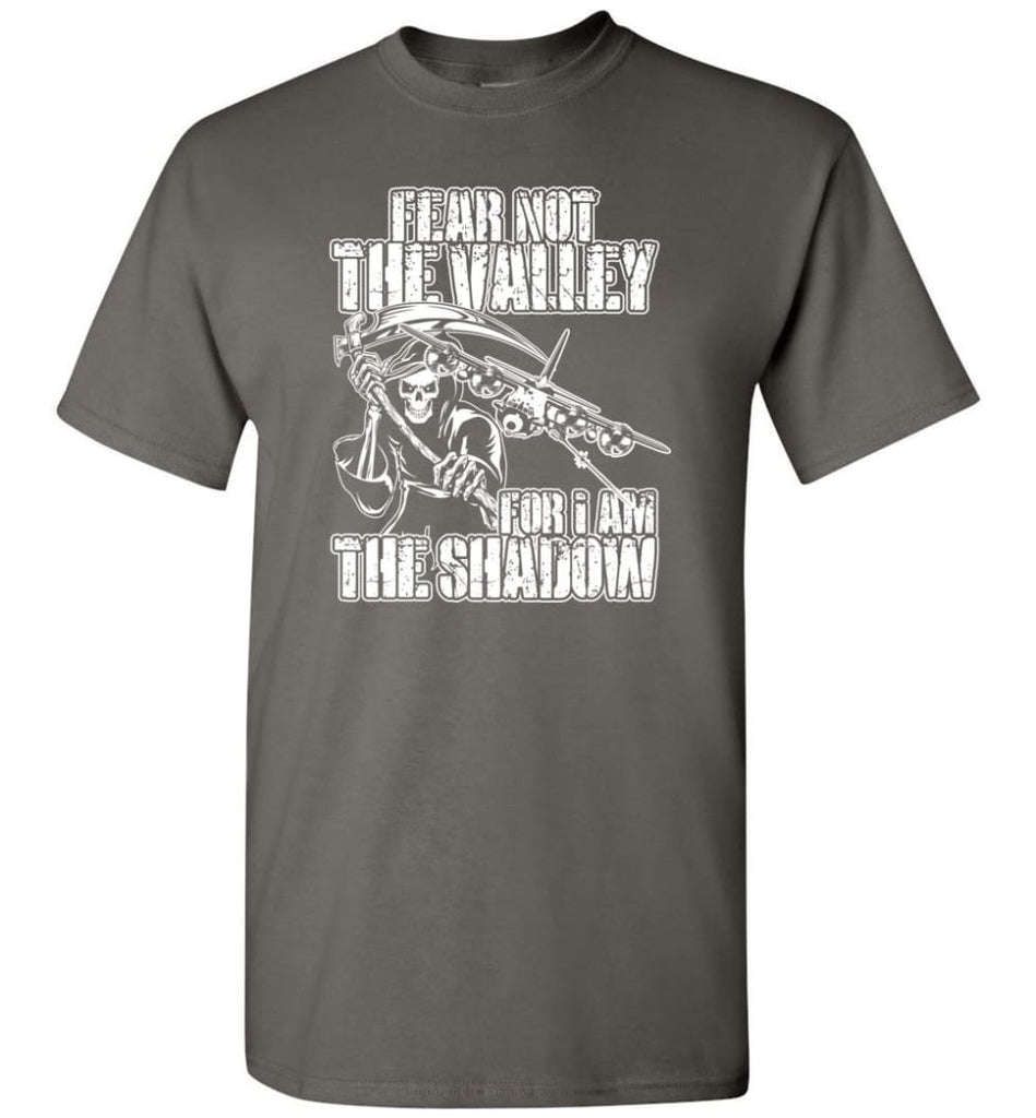 Fear Not The Valley For I Am The Shadow Hoodie T shirt Sweater - T-Shirt - Charcoal / S