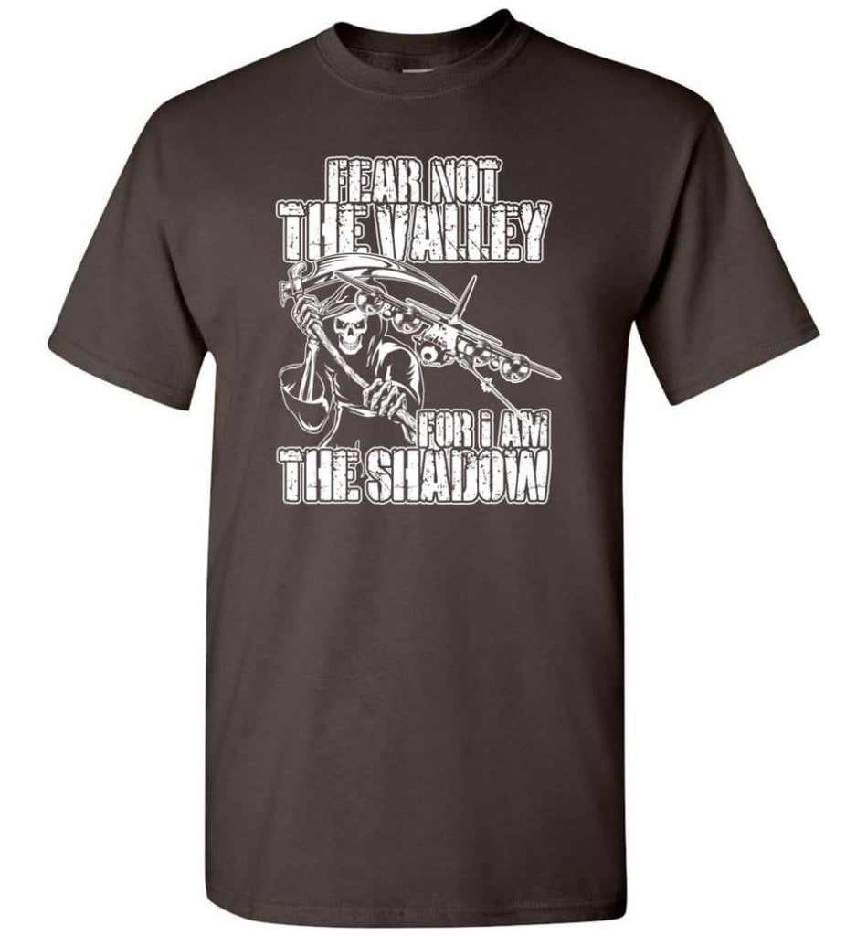 Fear Not The Valley For I Am The Shadow Hoodie T shirt Sweater - T-Shirt - Dark Chocolate / S