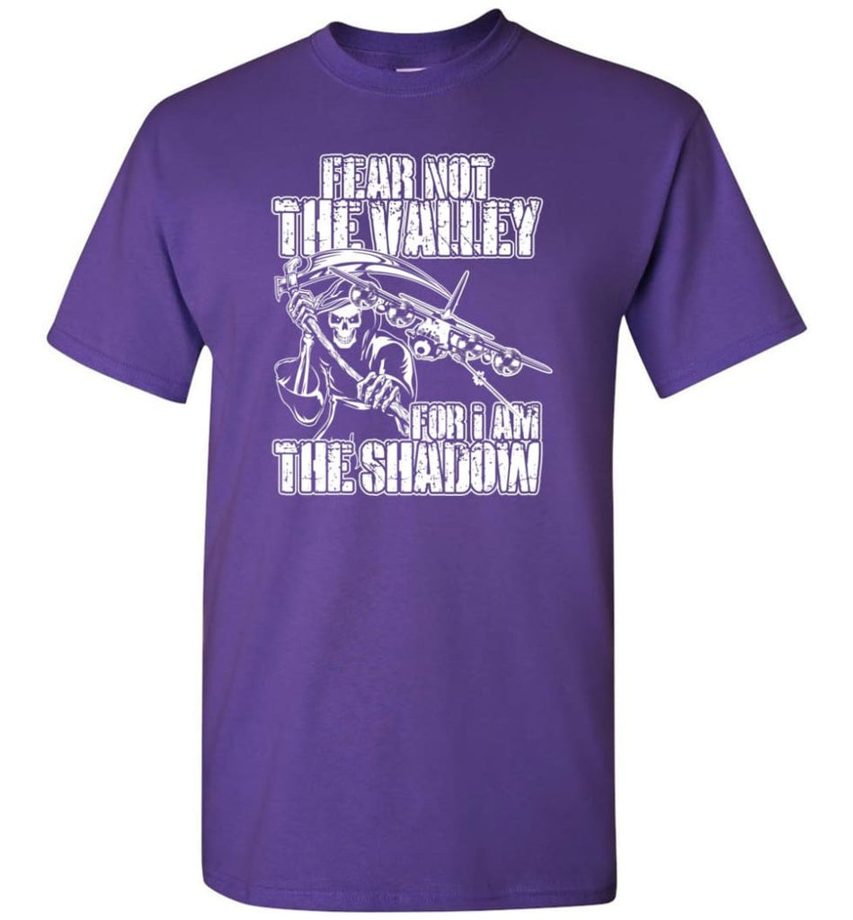 Fear Not The Valley For I Am The Shadow Hoodie T shirt Sweater - T-Shirt - Purple / S