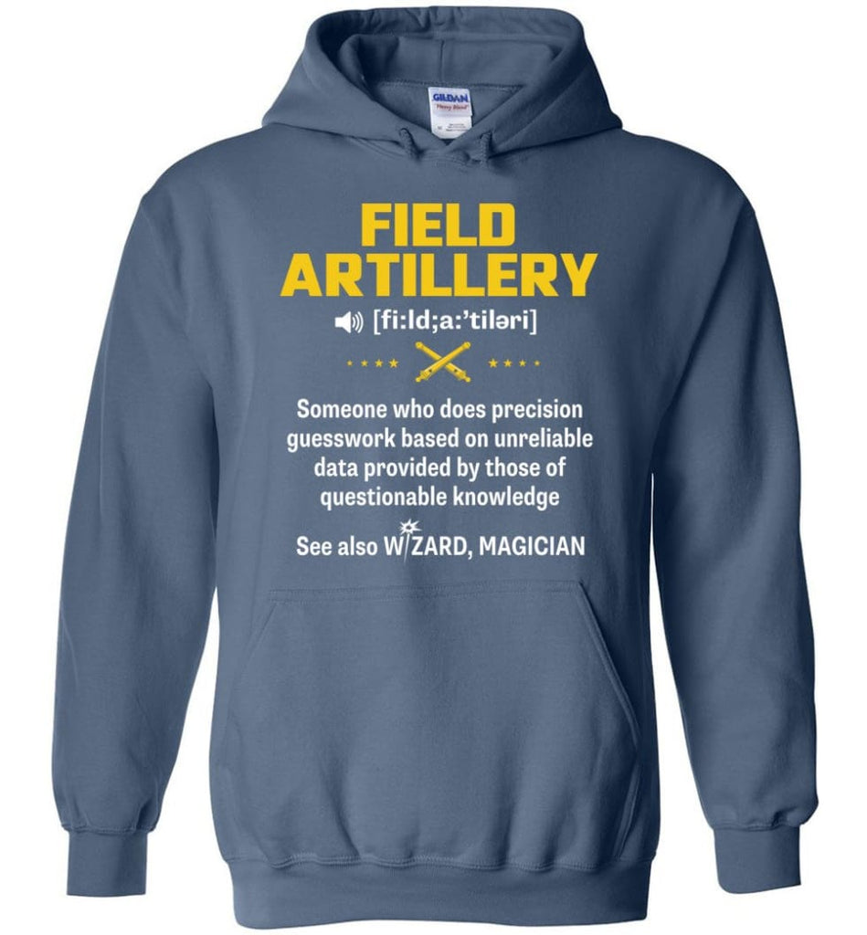 Field Artillery Definition Meaning - Hoodie - Indigo Blue / M