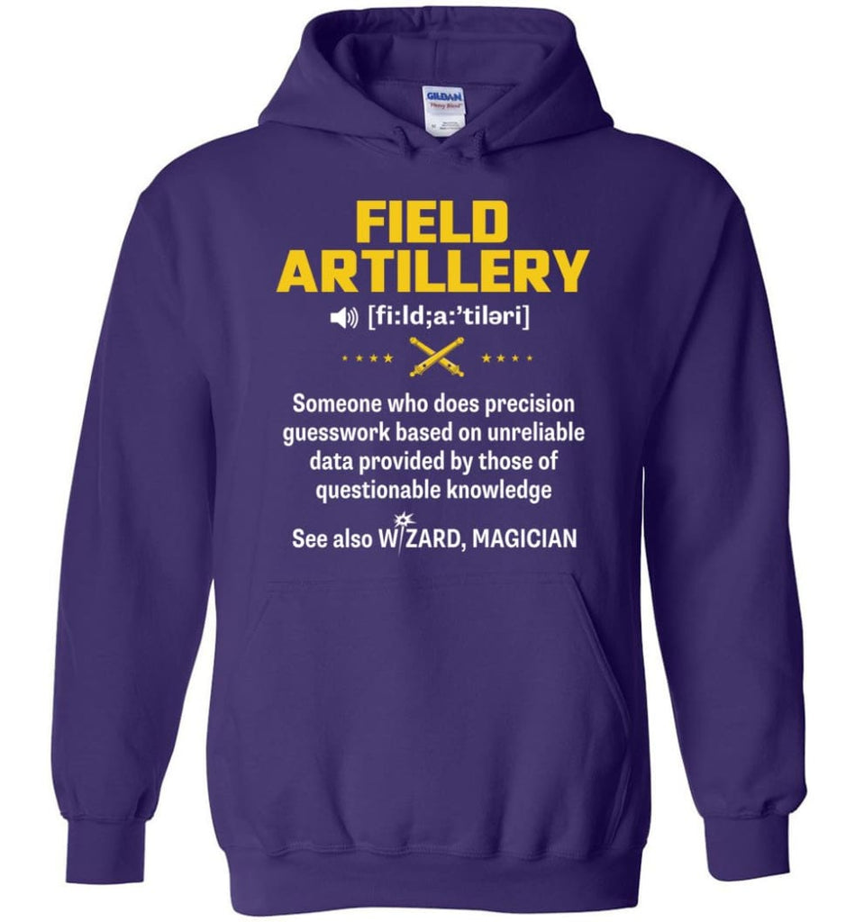 Field Artillery Definition Meaning - Hoodie - Purple / M