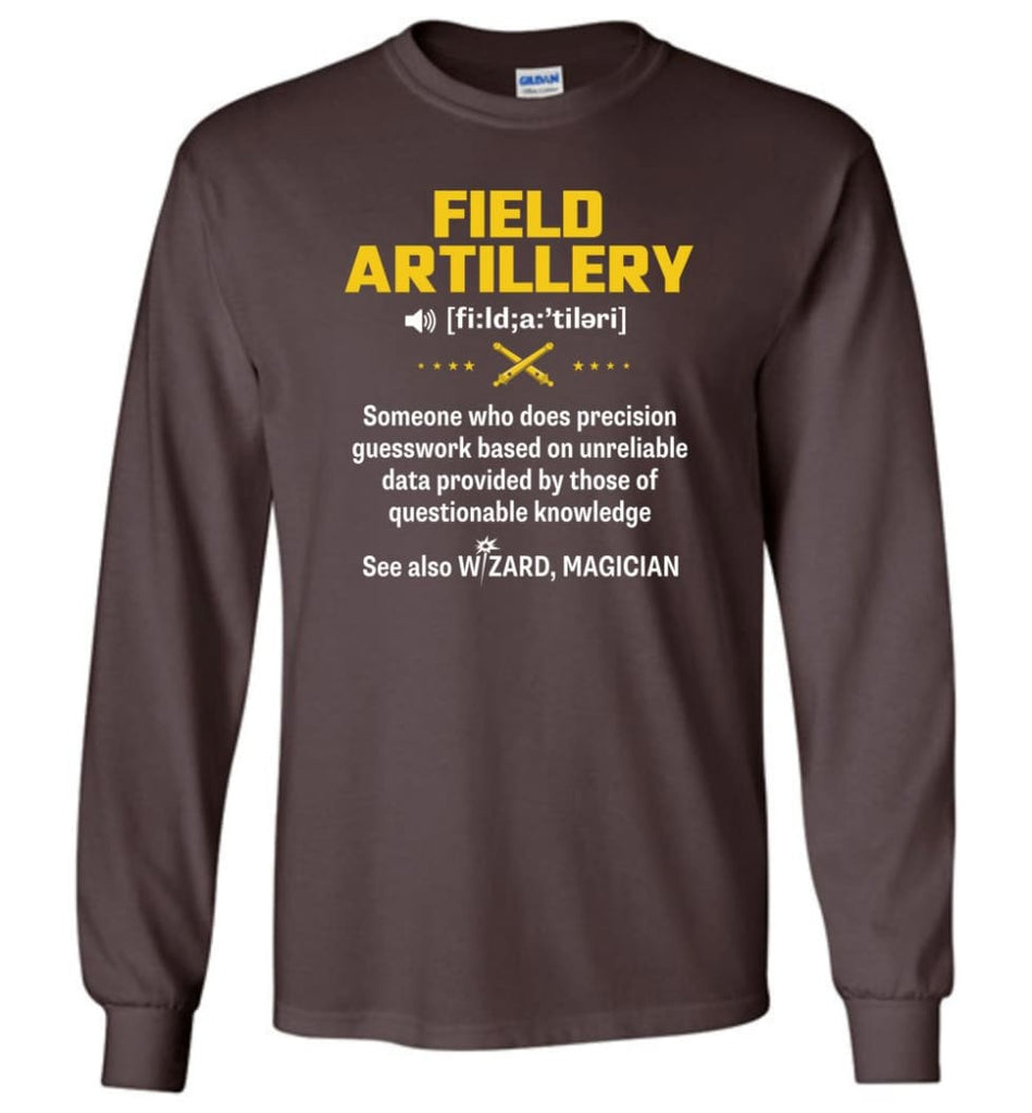 Field Artillery Definition Meaning Long Sleeve - Dark Chocolate / M