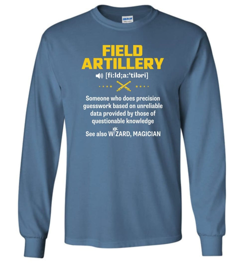 Field Artillery Definition Meaning Long Sleeve - Indigo Blue / M
