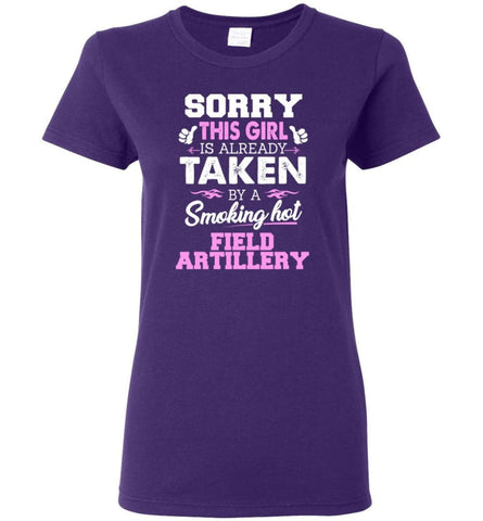 Field Artillery Shirt Cool Gift for Girlfriend Wife or Lover Women Tee - Purple / M - 6