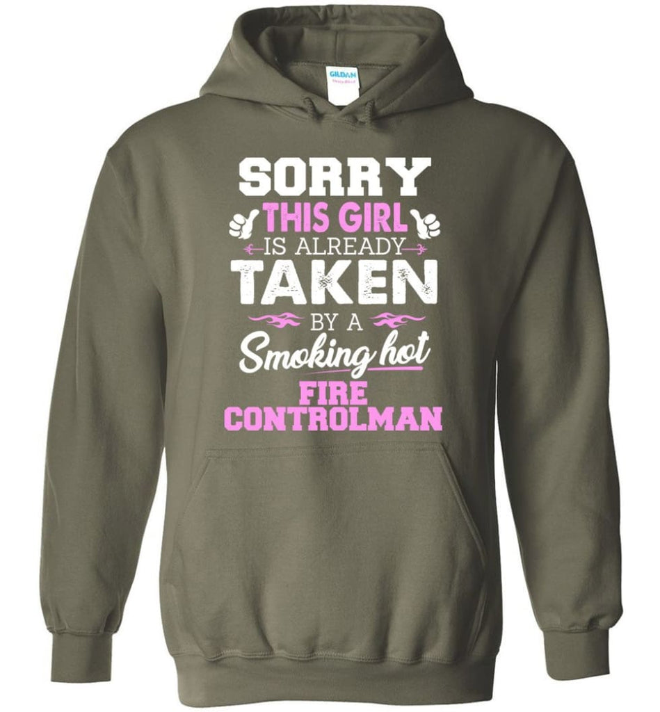 Fire Controlman Shirt Cool Gift for Girlfriend Wife or Lover - Hoodie - Military Green / M