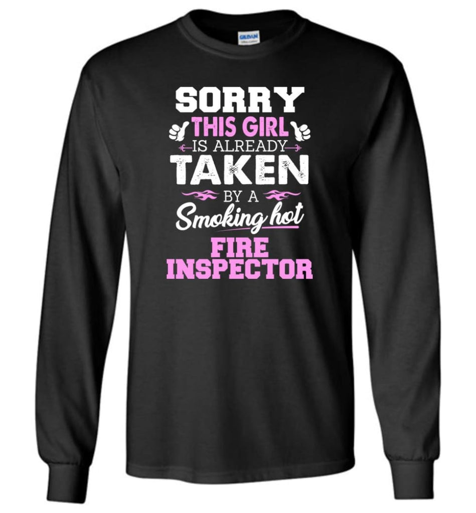 Fire Inspector Shirt Cool Gift For Girlfriend Wife Long Sleeve - Black / M
