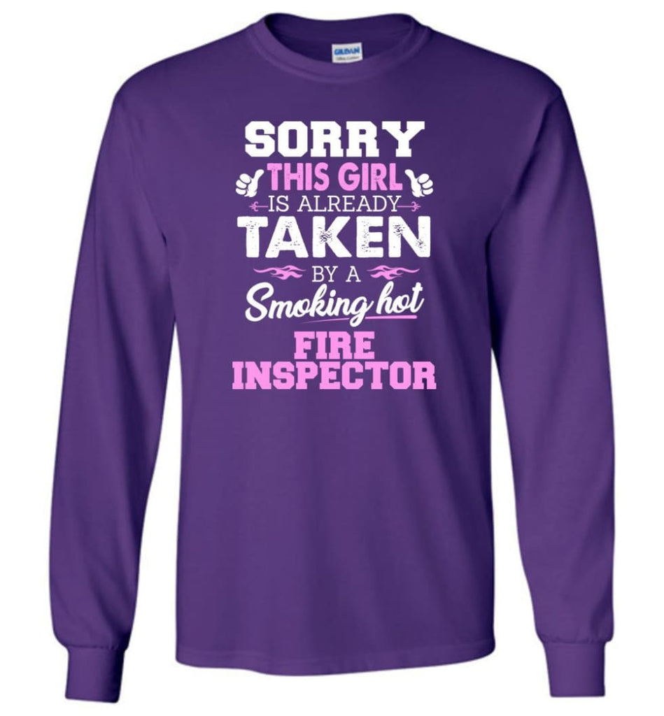 Fire Inspector Shirt Cool Gift For Girlfriend Wife Long Sleeve - Purple / M