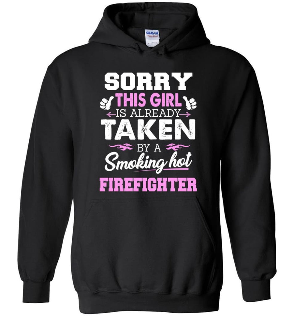 Firefighter Shirt Cool Gift for Girlfriend Wife or Lover - Hoodie - Black / M