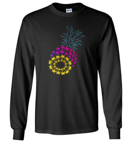 Funny Graphic Husky Pineapple - Long Sleeve - Black / M - Long Sleeve
