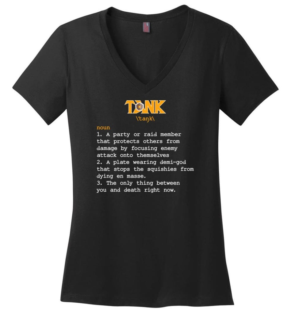 Funny Tank Definition Nerdy Tank Heroes T Shirts Gift for Gamer - Ladies V-Neck - Black / M