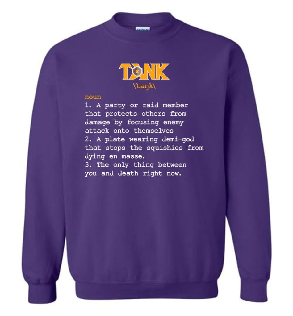 Funny Tank Definition Nerdy Tank Heroes T Shirts Gift For Gamer Sweatshirt - Purple / M