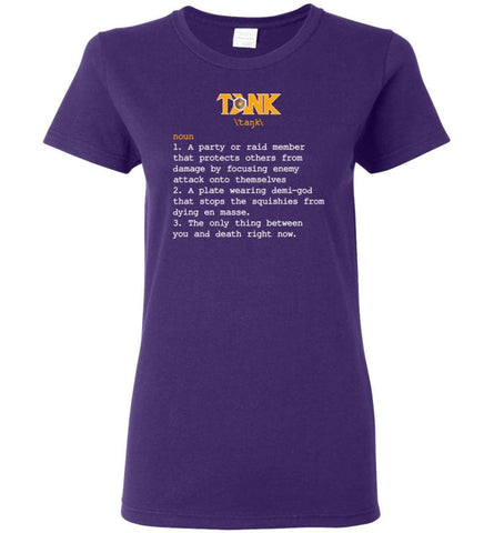 Funny Tank Definition Nerdy Tank Heroes T Shirts Gift for Gamer Women Tee - Purple / M