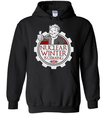 Game Of Throne Fallout Nuclear Winter Is Coming Brother Hood Steel - Hoodie - Black / M