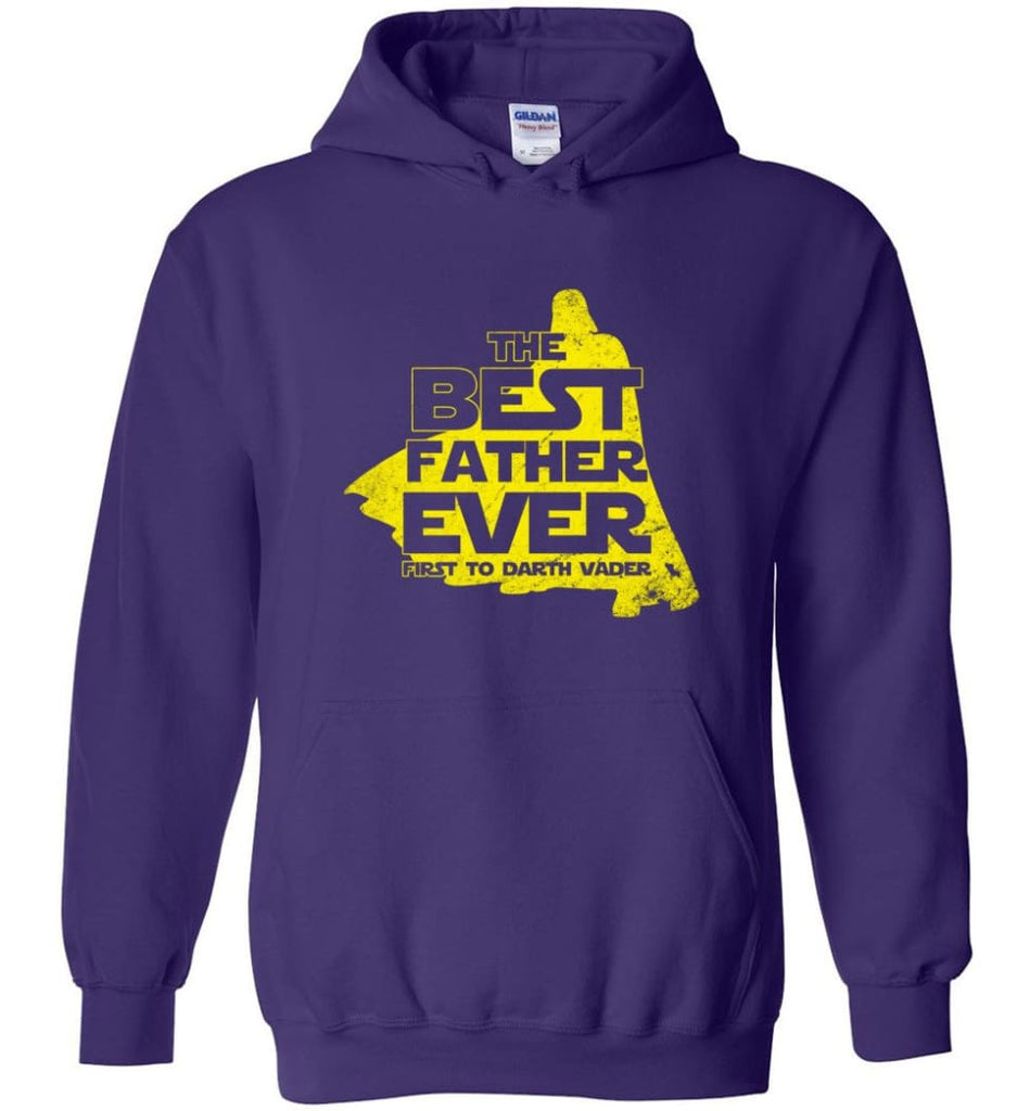 Gift Ideas For Father's Day Best Father Ever T shirt - Hoodie - Purple / M