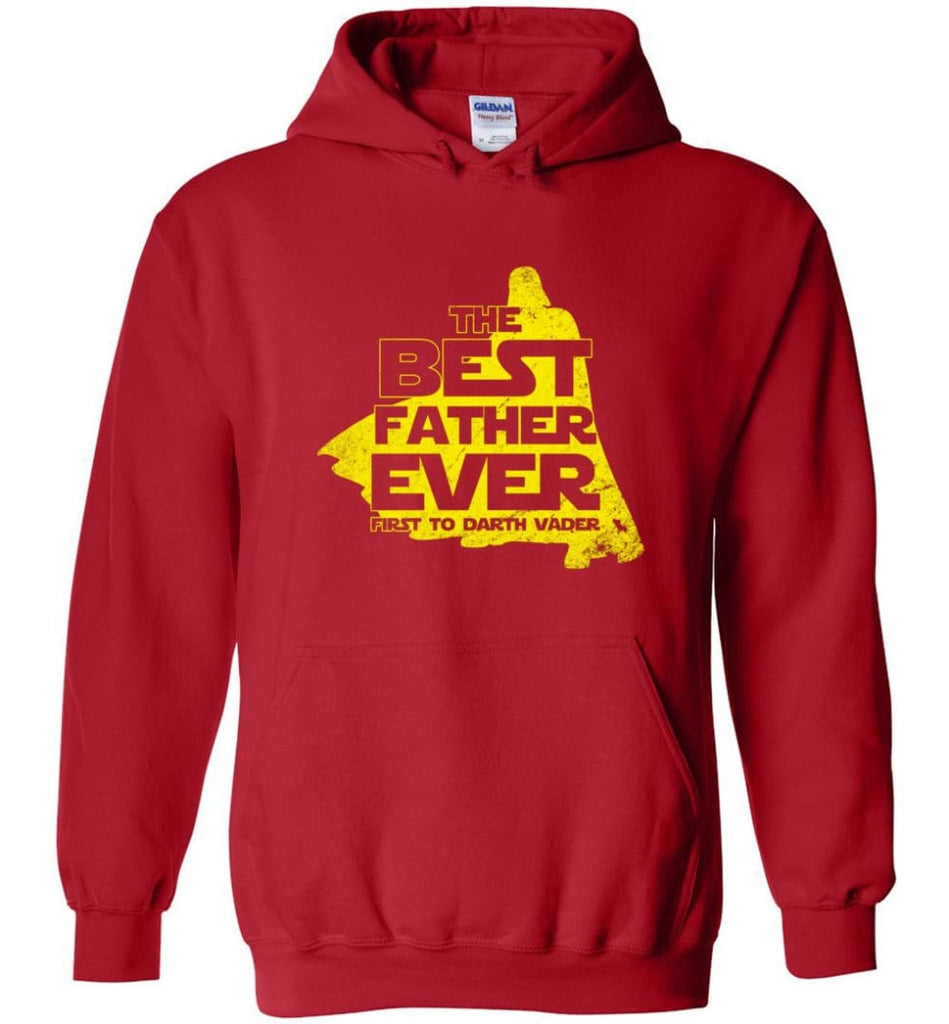 Gift Ideas For Father's Day Best Father Ever T shirt - Hoodie - Red / M