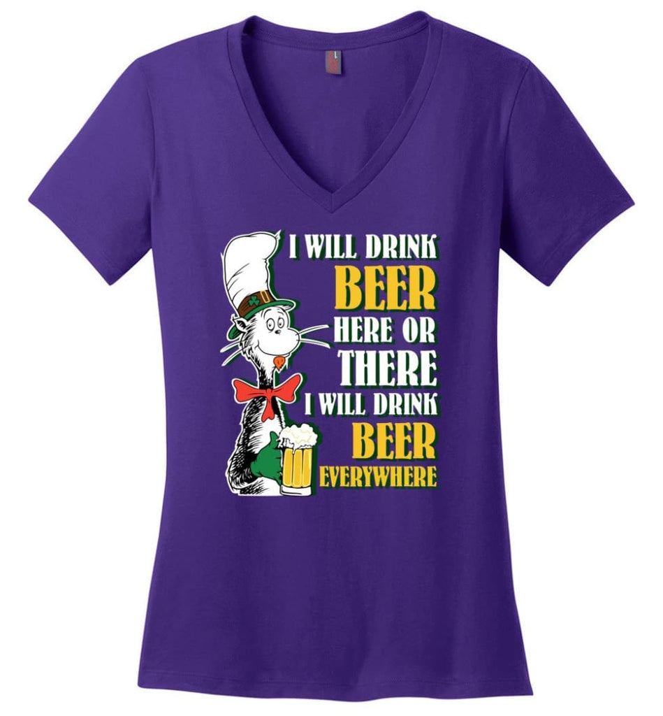 Gift Ideas For Father's Day Best Father Ever T shirt Ladies V-Neck - Purple / M