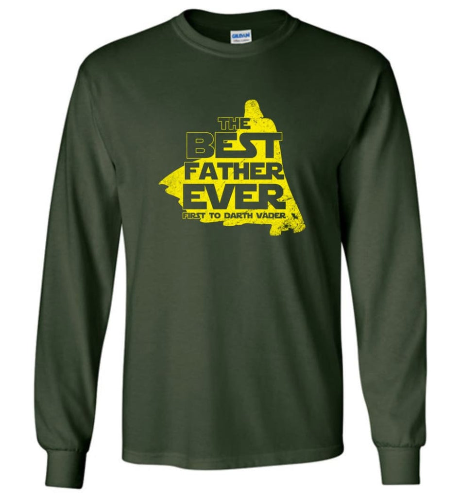 Gift Ideas For Father's Day Best Father Ever T shirt - Long Sleeve T-Shirt - Forest Green / M