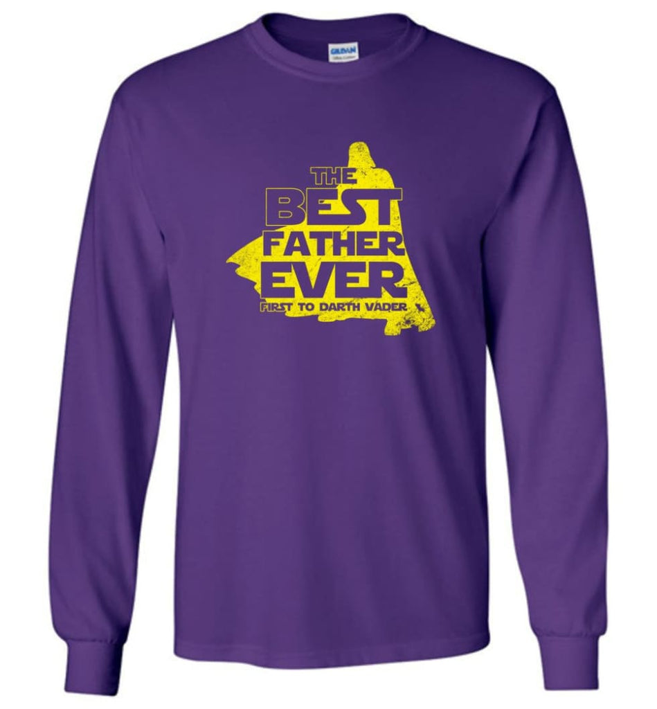 Gift Ideas For Father's Day Best Father Ever T shirt - Long Sleeve T-Shirt - Purple / M