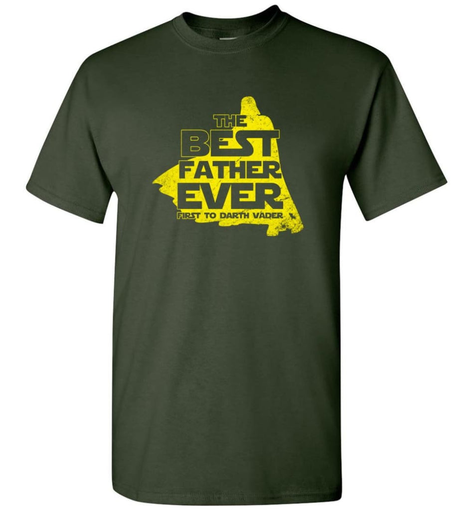 Gift Ideas For Father's Day Best Father Ever T shirt - Short Sleeve T-Shirt - Forest Green / S