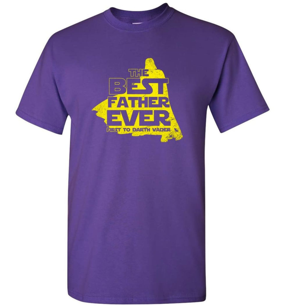 Gift Ideas For Father's Day Best Father Ever T shirt - Short Sleeve T-Shirt - Purple / S