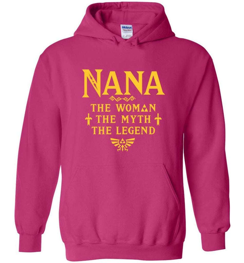 Gift Ideas For Mother's Day Nana Woman Myth Legend - Hoodie - Heliconia / M