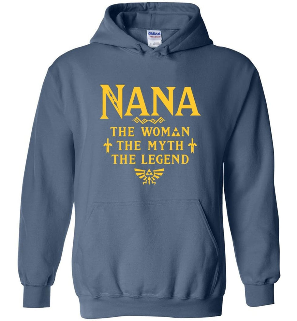 Gift Ideas For Mother's Day Nana Woman Myth Legend - Hoodie - Indigo Blue / M