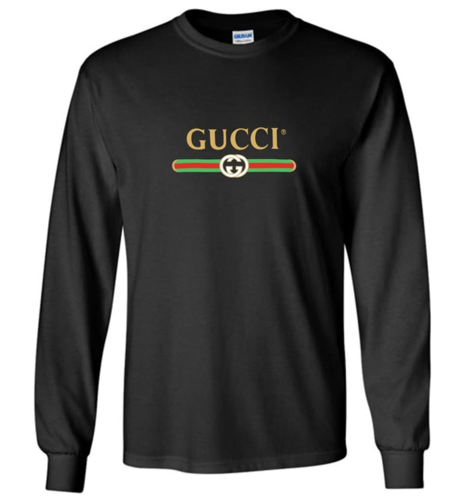 Gucci Vintage logo T shirt That Was Shown On The Cruise 2017 Long Sleeve - Black / M