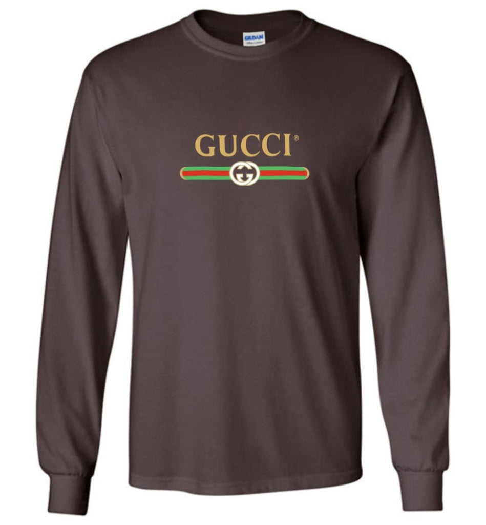 Gucci Vintage logo T shirt That Was Shown On The Cruise 2017 Long Sleeve - Dark Chocolate / M