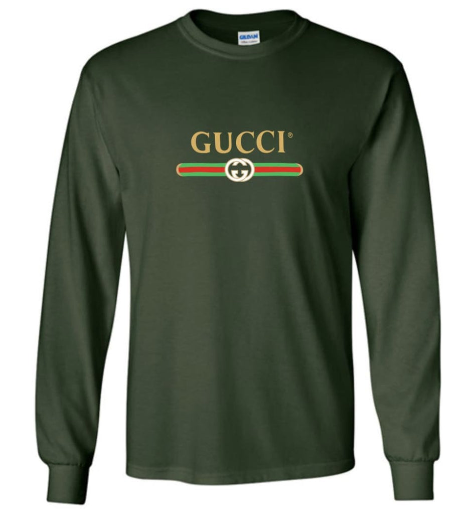 Gucci Vintage logo T shirt That Was Shown On The Cruise 2017 Long Sleeve - Forest Green / M