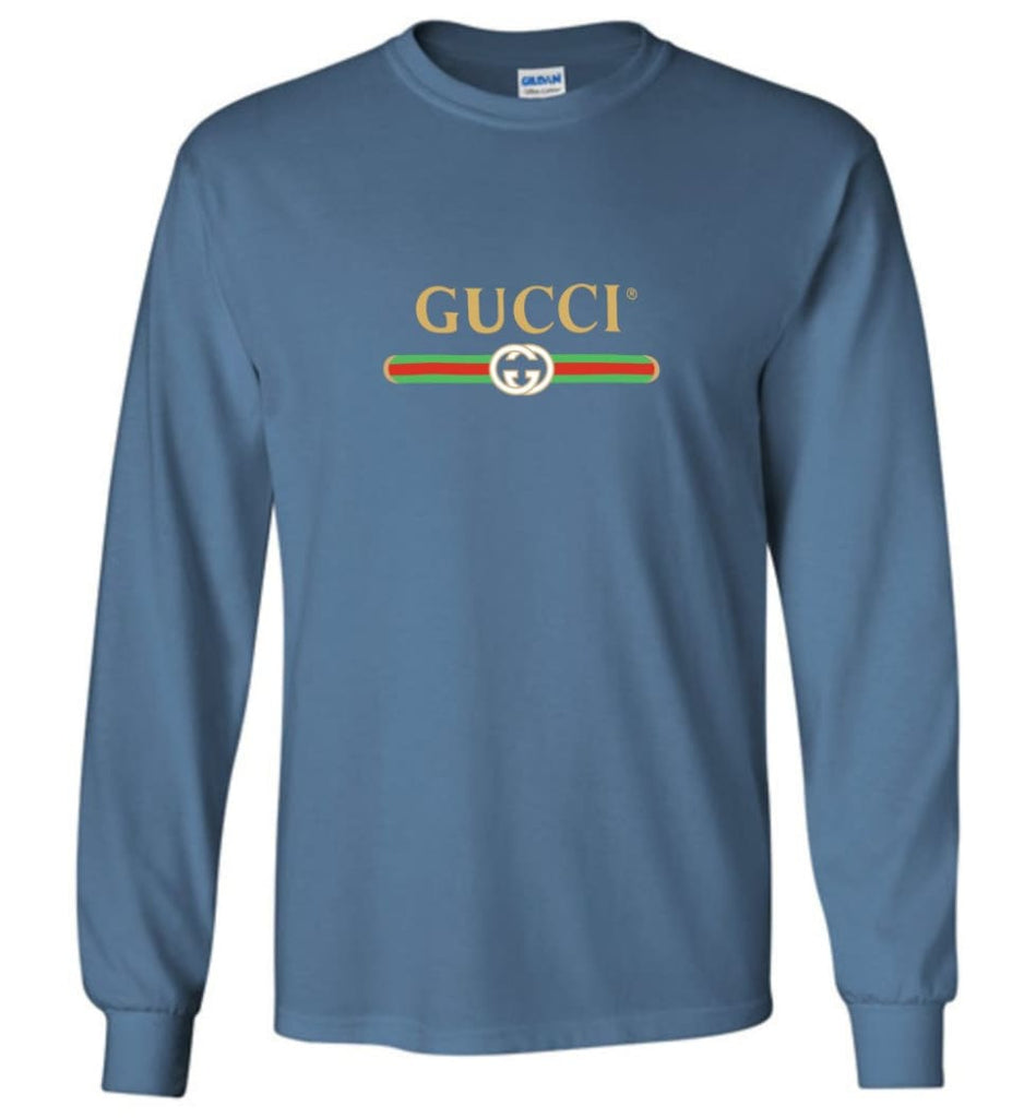 Gucci Vintage logo T shirt That Was Shown On The Cruise 2017 Long Sleeve - Indigo Blue / M