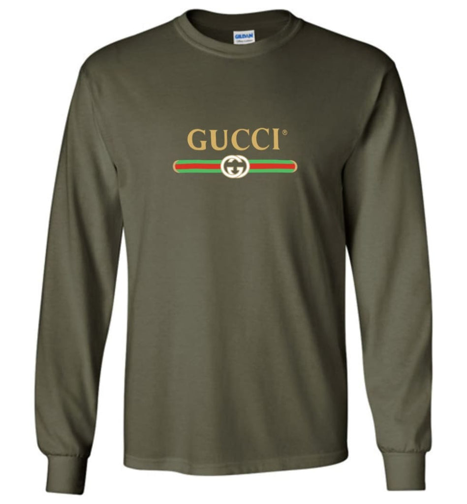 Gucci Vintage logo T shirt That Was Shown On The Cruise 2017 Long Sleeve - Military Green / M