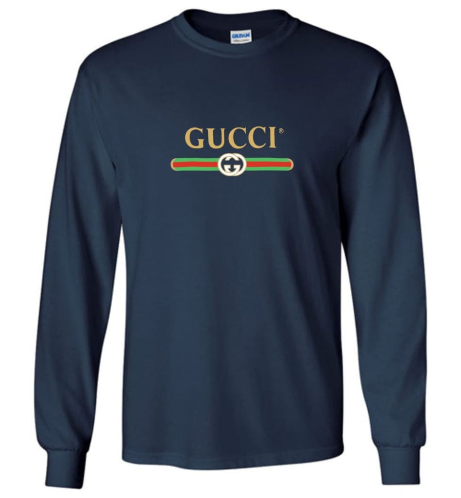 Gucci Vintage logo T shirt That Was Shown On The Cruise 2017 Long Sleeve - Navy / M