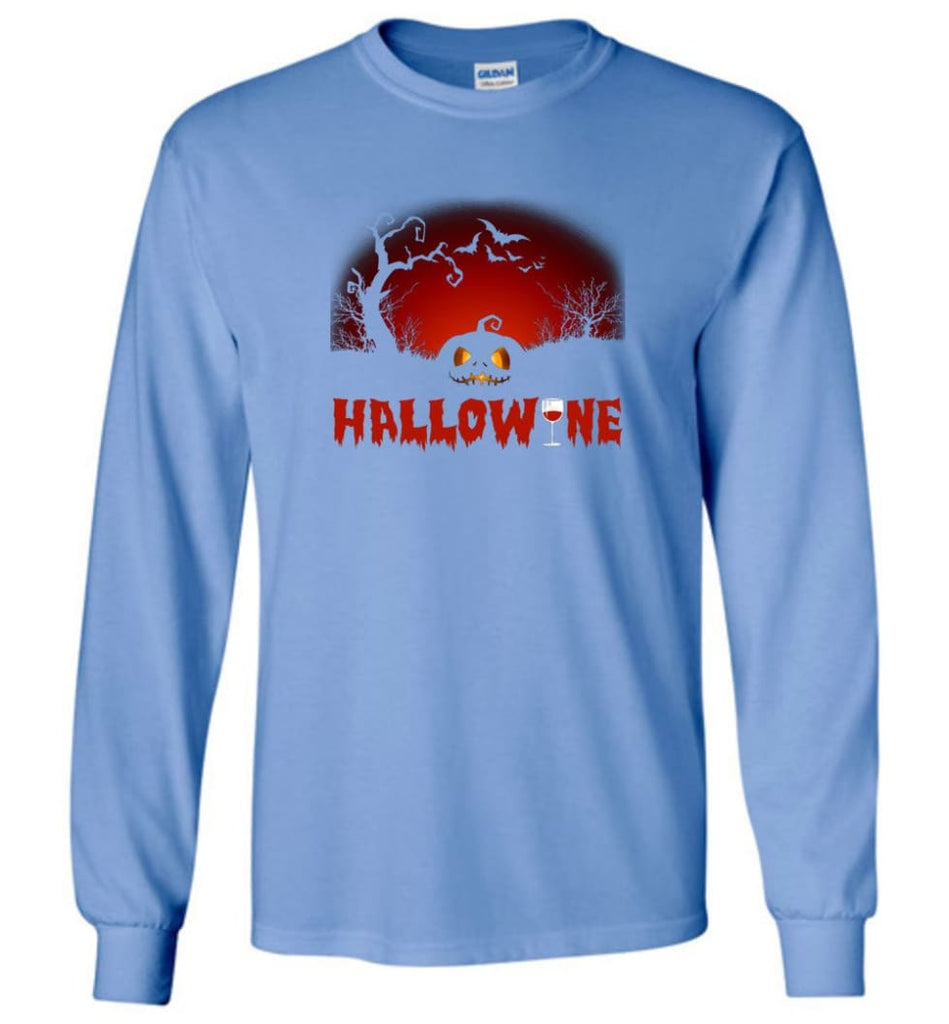 Hallowine T shirt Funny Scary Cool Halloween Costume Long Sleeve