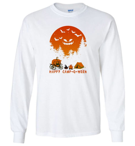 Happy Camp O Ween Halloween Funny T Shirt - Long Sleeve - White / M - Long Sleeve